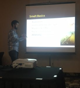 "Sean Landsman presenting his ""award winning"" smelt talk."